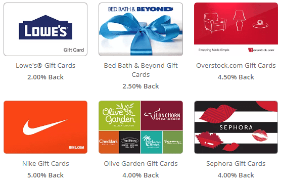 Swagbucks Gift Cards Cashback