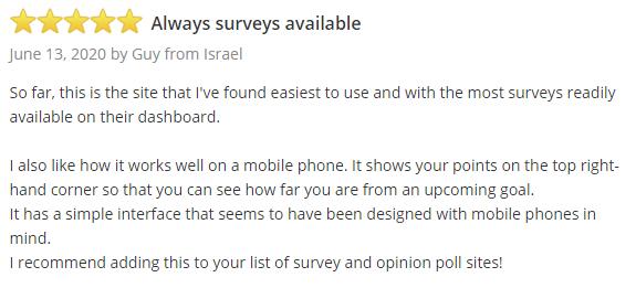 Swagbucks SurveyPolice Positive Testimonial 2