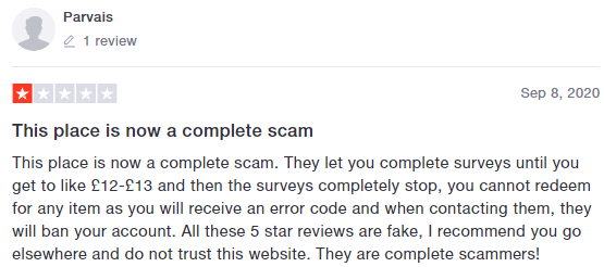 ValuedOpinions Account Termination Complaint 2