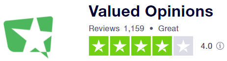 ValuedOpinions Trustpilot Rating