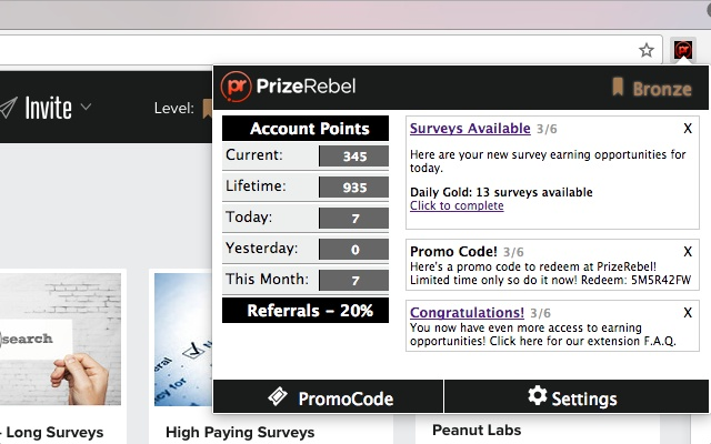 PrizeRebel Browser Extention