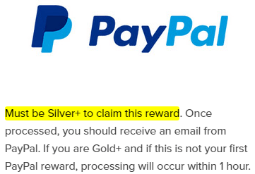 PrizeRebel PayPal Redemption Silver+ Requirement