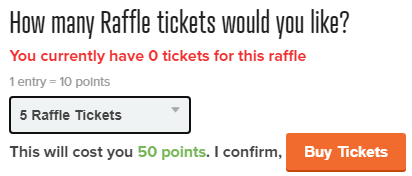 PrizeRebel Raffle Tickets