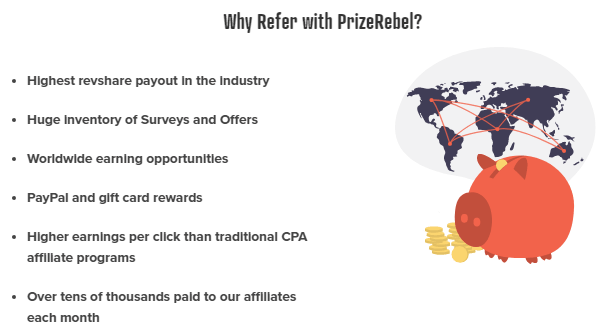 PrizeRebel Referral Program Details
