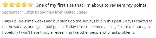 PrizeRebel SurveyPolice Positive Member Testimonial 2