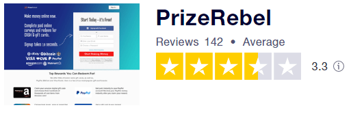 PrizeRebel TrustPilot Rating
