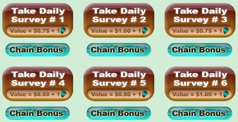 Treasure Trooper Daily Surveys