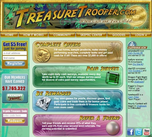 Treasure Trooper Home Page