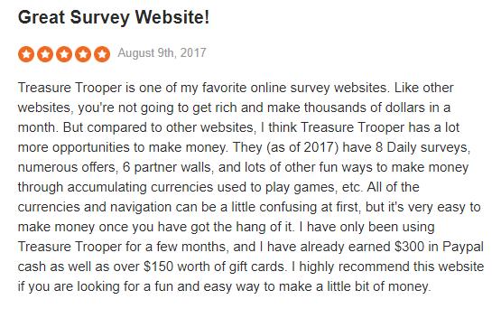Treasure Trooper Sitejabber Positive Review