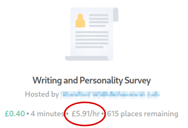 Prolific Study Hourly Rate