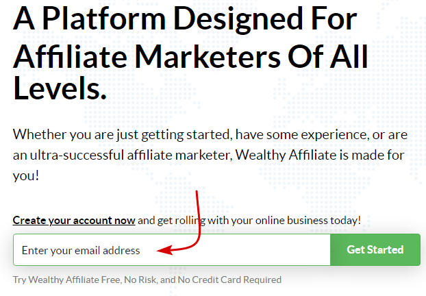 Join Wealthy Affiliate Step 1
