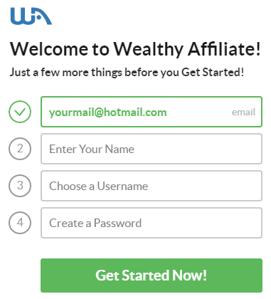 Join Wealthy Affiliate Step 2