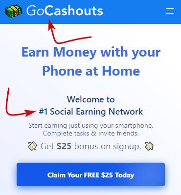 GoCashouts.com Home Page