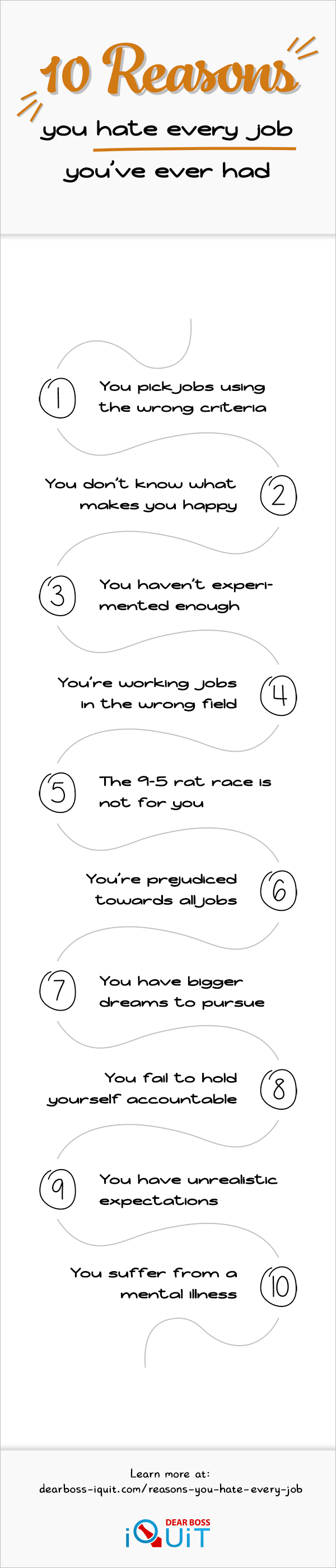 Reasons You Hate Every Job You've Ever Had Infographic