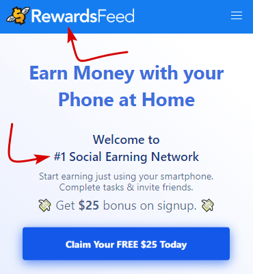 RewardsFeed.com Home Page