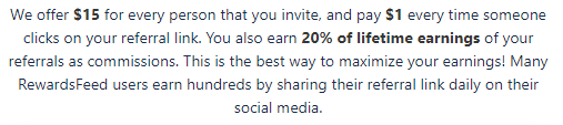 RewardsFeed.com Referral Earnings
