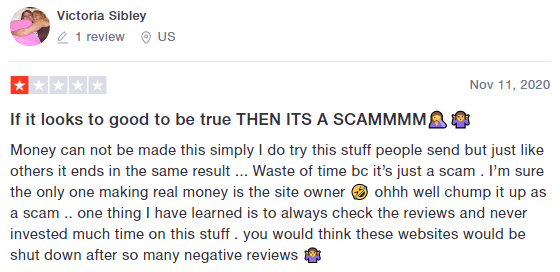 Trustpilot Negative RewardsFeed.com Review 3