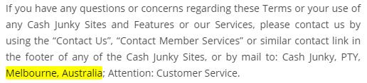 CashJunky.co Terms of Use Australia