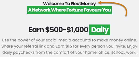 ElectMoney.com Home Page