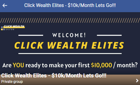 Click Wealth System Private Facebook Group