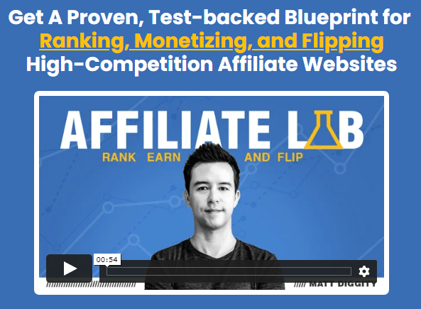 The Affiliate Lab Sales Page Screenshot