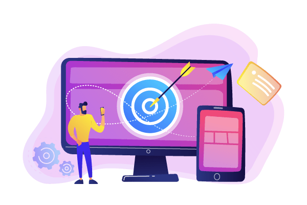 Arrow-And-Target-On-Computer-Screen-Illustration