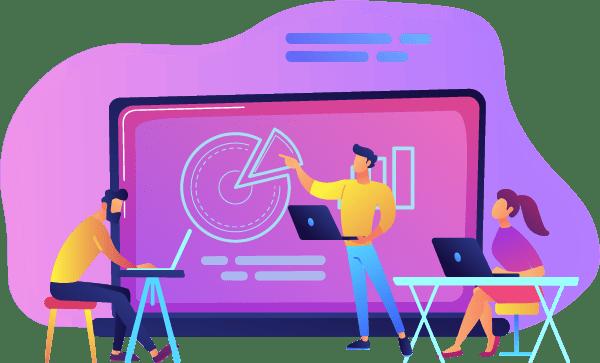 Man-Provides-Online-Training-To-Students-Illustration