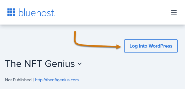 Bluehost Log Into WordPress